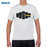 Wholesale White Tshirts Youth - Pink Floyd The Dark Side Of The Moon T Shirts Man Short Sleeve 100% Cotton Tshirts Youth Punk Rock Tees Shirts Tops Clothing