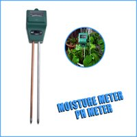 Wholesale High Quality Soil Moisture Meter - Wholesale-3 in1 Plant Flowers Soil Moisture Light Tester high quality PH Meter 5pcs lot