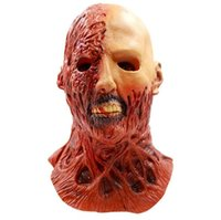 Wholesale Cosplay Silicone Mask - Wholesale 2017 Halloween Horror Zombie Mask The Resident Evil Scary Dead Man Latex Head Masks Adult Masquerade Party Cosplay Costume Props