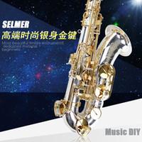 Wholesale 54 Tenor - France SELMER 54 B flat tenor saxophone silver saxophone Musical Instrument Professional