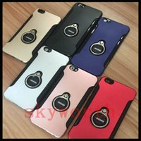Wholesale armor case motomo online - Hybrid Armor motomo case metal Ring cover for iphone X XR XS Max Samsung Galaxy S8 S9 Plus Note J5 J7 A7