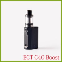 Wholesale Electronic Cigarettes Refills - 100% original ECT C40 Boost 40W vape mod starter kits 0.3ohm e cigarette 1800mah battery top refilling 2.0ml electronic cigarette vaporizer