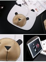 Wholesale Ipad Cute Bear Cases - Cartoon Cute Design Flip Stand Case with PU Leather Protective Cover for Apple iPad  Mini Air pro(Sloth bear)