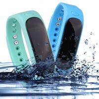 Wholesale digital health bracelet for sale - Group buy 2017 high quality E02 sports bracelet waterproof smart bracelet pedometer health monitor pedometer wear wristband free shippin