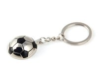 Wholesale Wholesale Football Key Chain - 2017 Sports Soccer Football Metal Decorative Accessories For Jewelry Keychain Pendant Keyring Key Holder Chain Ring
