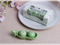 Wholesale Salt Pepper Shaker Pea - Pea Salt & Pepper Shaker Wedding Favors Party Gifts For Guests Souvenirs Decoration Event & Party Supplies