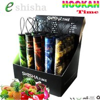 Wholesale e shisha mod online - Shisha time disposable vape pen e cigarette stick Ecig puffs flavors hookah time vaporizer vape juice mAh battery vapor mod