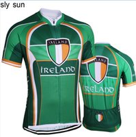 Wholesale Team Cycle Jerseys Wholesale - Cycling Jersey men Ireland short sleeve Cycling road RACING Team Bicycle wear Racing clothing Breathable ciclismo maillot