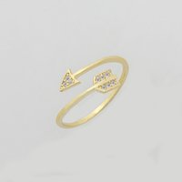 Wholesale One Direction Bands - Wholesale 10Pcs lot Promotion 2017 New Fashion Gold Filled Rings Crystal Jewelry One Direction CZ Arrow Silver Rings