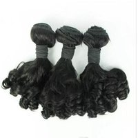 Wholesale Mongolian Aunty Funmi - Aunty Funmi Hair Unprocessed Brazilian Aunty Funmi Hair Bouncy Curls Human Hair Extension 3PC Lot for african women Fast Shipping