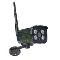 ir câmera de bala ip66 venda por atacado-ESCAM 2MP Network IR-Bullet Camera Dia / Noite Waterprrof IP66 ONVIF 2.2 1080P Camouflage Wireless IP Camera Sentry QD900S