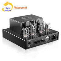 Wholesale Usb Power Amplifier - Nobsound MS-10D MKII Tube Amplifier Black HI-FI Stereo Amplifier 25W*2 Vaccum Tube AMP Support Bluetooth and USB 110V or 220V