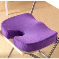 massagesitze autos großhandel-Heiße Neue Steißbein Orthopädische Memory Foam Sitzkissen für Stuhl Auto Büro Home Boden Sitze Massage Kissen almofada cojines