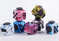 Wholesale Adult Tv Box - Wholesale Decompression Cube Fidget Cubes Spinner Camo Magic Fingertip Original Dice Finger Box Adult Anxiety Toys