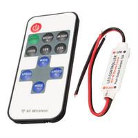 беспроводной диммер переключатель для led оптовых-Led Dimmer Switch Пульт дистанционного управления RF Wireless 6A Для Управления Одноцветный Светодиодная Лента DC5V-24V 11 Ключ