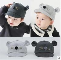 Wholesale Cartoon Cap For Baby - Autumn Winter New Children Fashion Cartoon Hats Baby Cotton Sun Caps For 0-2 Years Kids JA002