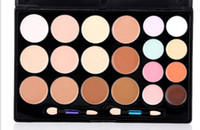 Wholesale Makeup Palette Camouflage - Concealer palette 20 colors Face Cream Concealer Facial Care Camouflage Makeup Palette with Makeup Brushes 20colors