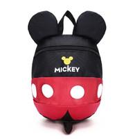 Wholesale Kindergarten School Bag Leather - Cartoon style school bag cute Minnie and Mickey drawstring mouse backpack children schoolbags for girls kindergarten bag