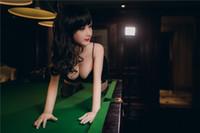 Wholesale Cyberskin Sex Dolls - 148cm Black hair sexy woman girl real silicone sex doll lifelike feeling TPE cyberskin Asian face lady doll