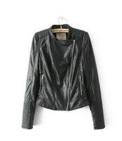 Wholesale Ladies Leather Jacket Small - 2016 winter Europe new ZAR* lady PU leather female small short slim leather jacket coat
