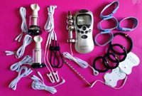 Electro Sex Pênis de aço inoxidável Cateter Uretral Anal Plugue elétrico Shock Penis Ring Medical Themed Toys Kit Sex Toys 2017
