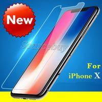 iphone klares frontglas großhandel-Für iphone x 8 7 plus gehärtetes glas für iphone 5 5s 5c se 6 6s displayschutzfolie 9h schutzfolie klare vorderseite