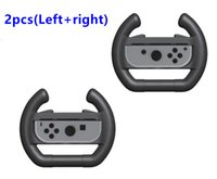 Wholesale Racing Game Controller - Left and Right Racing Game Steering Wheel Controller for Nintendo Switch Joy-Con Controller Direction Manipulate Wheel Gamepad