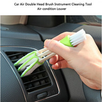 Wholesale Tools For Cleaning Cars - Wholesale- Multi-functional Microfiber Car Duster Brush Cleaning Dirt Air-condition louver cleaning tool For Car Detailing Free Shipping