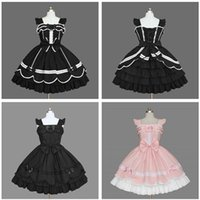 Wholesale Real Sexy Cosplay - Gorgeous Lovely Lace Lotus Leaf Pleated Cosplay Strap Backless Bandage Flying Sleeve Prom Dress Palace Wind Ball Gown 2018 Real Photo Custom