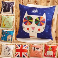 Cartoon Cat Elephant bird deer animal de chien Série Throw Pillow Sofa voiture Office Back Cushion Baby Room Décoratif 300697