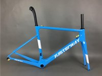Wholesale Carbon Clamp - hot sell model TAIWAN brand FASTERWAY classic dark blue carbon road frameset UD weave carbon bike frame:Frameset+Seatpost+Fork+Clamp+Headset