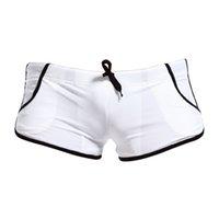 Wholesale Super Sexy Men Swim Briefs - Wholesale- Super sell SEOBEAN Sexy Men Swimming Trunks Beach Pants Boxers Briefs Short Loose Swimwear White M