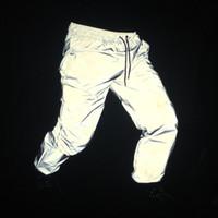 Wholesale Night Pants Wholesalers - Wholesale- 2017 Newest Men hip hop pants night joggers reflective sweatpants mens streetwear hiphop dance trousers pantalones hombre