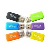 telefones mais pequenos da china venda por atacado-Atacado Leitor de Cartão de Memória Do Telefone Móvel TF Leitor de Cartão Pequeno Multi-Uso de Alta-velocidade USB SD Card Reader 1000 pcs