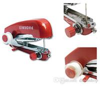 jacquard ribbons trims UK - Pocket manual sewing machine free shipping portable utility holding miniature simple small household mini manual sewing machine