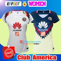 fffe1af9f NEW 17 18 LIGA MX Mexico Club America Women Soccer Jerseys 2017 2018 Chivas  Tigres Camiseta de futbo Girl football shirts Size XL ...