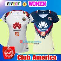 Wholesale Girls Black White Shirts - NEW 17 18 LIGA MX Mexico Club America Women Soccer Jerseys 2017 2018 PERALTA Chivas Camiseta de futbo Girl football shirts Size XL