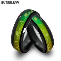 Wholesale Mood For Love - 2017 Black Tone Color Changing Mood Love Rings Temperature Emotion Feeling wedding rings for men and women valentine's day gift