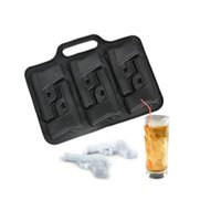 Wholesale Gun Ice Cube Trays Wholesale - Gun Freeze Party Ice Mould Ice Tray Handgun Jelly Chocolate Mold Cube Cake DIY Decorate Maker Free Shipping ZA3539