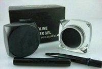 gel eyeliner brush toptan satış-Yeni eyeliner, Makyaj YENI Siyah Eyeliner Su Geçirmez Jel Astar 1 ADET + Ücretsiz fırça