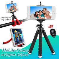 Wholesale Stand Bracket - Flexible Octopus Tripod Phone Holder Universal Stand Bracket For Cell Phone Car Camera Selfie Monopod with Bluetooth Remote Shutter