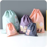 Wholesale Clothing Out Door - Travel Storage Bag Cartoon Waterproof Clothes Toy Drawstring Beam Mouth Packing Sort Out Bags Cylindrical Simple Design 2 1mh I1 R