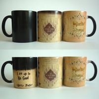 Wholesale Heat Maps - New Light Magic magic mugs Marauders Map mischief managed mug color Changing Heat Reactive Coffee cup mugs