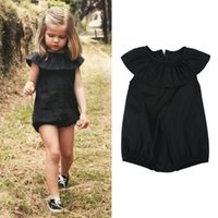 Wholesale Girls Summer One Piece Playsuit - Wholesale- Kids Girls Jumpsuit Summer Toddlers Girls Soft Casual Playsuit New One-piece Children's Clothing DS40
