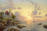 Wholesale Hd One - The Sea Of Tranquility Thomas Kinkade Oil Paintings Art Wall Modern HD Print On Canvas Decoration No Frame