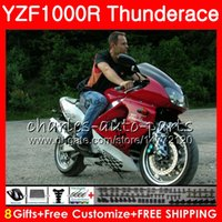 Wholesale Thunderace Red - Body For YAMAHA Thunderace YZF1000R 96 top Dark red 02 03 04 05 06 07 84NO26 YZF-1000R YZF 1000R 1996 2002 2003 2004 2005 2006 2007 Fairing