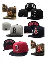 Wholesale Silk Sox - Wholesale Fashion new!new! style Boston Red Sox Fitted Cap Embroidered Team Logo Baseball Cap Casual Style sport Fit size men women hats
