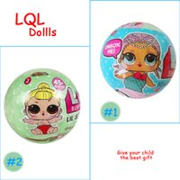 Wholesale Modelling Babies Dress - 2017 Newest LQL SURPRISE DOLL Unpacking Dolls Dress Up Toys baby Tear open change egg dolls can spray toys