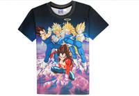 Wholesale Super Hipster Men - Newest Anime Dragon Ball Z Super Saiyan Tank Tops Goku Vegeta Majin Buu Brolly Prints t shirt Men Women Hipster 3D Tank T-shirt