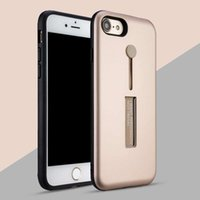 Wholesale iphone5 hybrid - For Samsung Galaxy S7 S8 Plus iPhone7 plus 6s plus iPhone5 5S 2in1 Hybrid Rugged Armour Case With Metal Kickstand PC+TPU Shockproof
